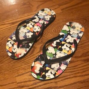 Mickey Mouse flip-flops purchased at Disney World